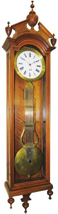 Ansonia Pinwheel Jewelers Wall Regulator Clock