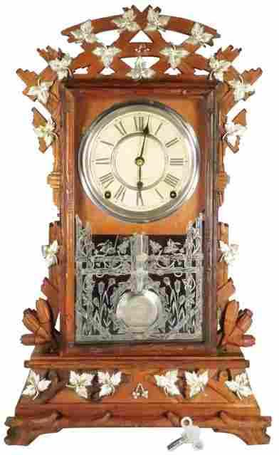 """Antique Seth Thomas Rare """"Santa Fe"""" Shelf Clock"""