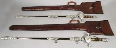 Pair Knights of Pythias Presentation Sword