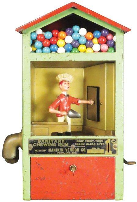 Manikin Vendor Co. Baker Boy Gum Vendor