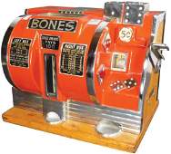 "Rare ""Bones"" Gambling Dice Machine"