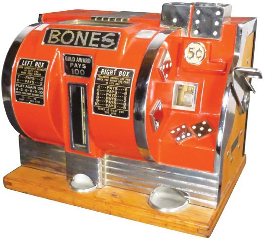 """Rare """"Bones"""" Gambling Dice Machine"""
