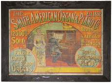 Smith American Organ & Piano Co. Paper Sign