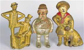 Three Cast Iron Figural Still Banks