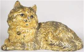 Hubley Cast Iron Reclining Persian Cat Doorstop