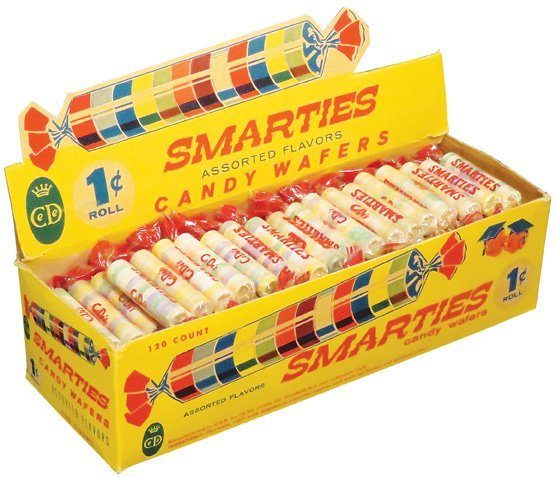 Smarties Candy Wafers Store Display