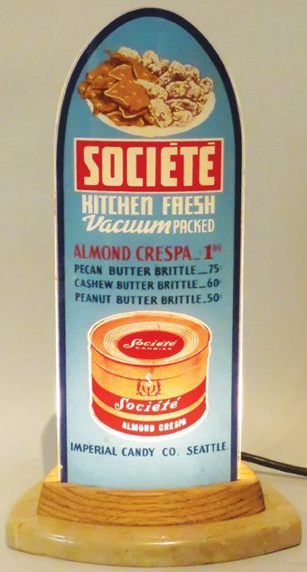 Societe Almond Cream Light Up Sign - 2
