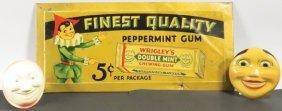 Wrigley's Peppermint Gum Beveled Tin Sign