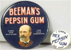 Two Chewing Gum Advertising Items