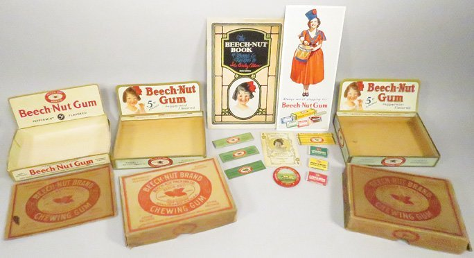 Collection of Beech-Nut Chewing Gum Items