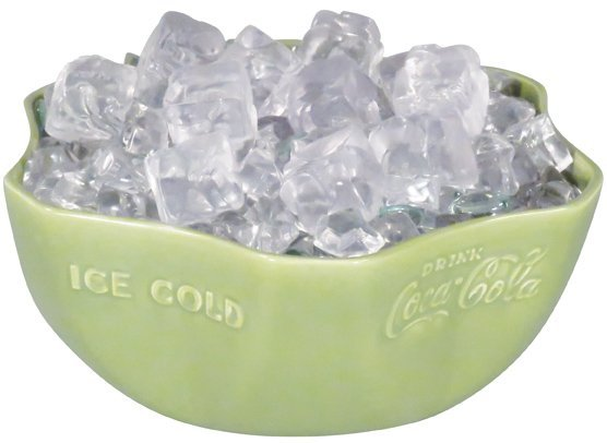 1930's Coca Cola Green Embossed Porcelain Bowl
