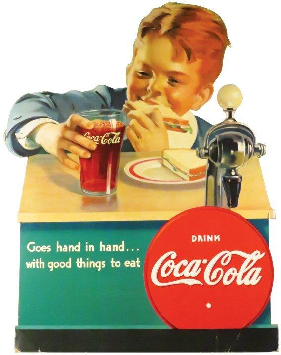 Extremely Rare Coca Cola Soda Fountain Sign