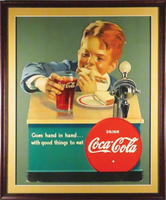 Extremely Rare Coca Cola Soda Fountain Sign - 2