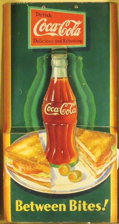 1933 Coca Cola  Cardboard Cut Out Bottle Signs