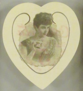 1896 Coca Cola Celluloid Heart Book Mark