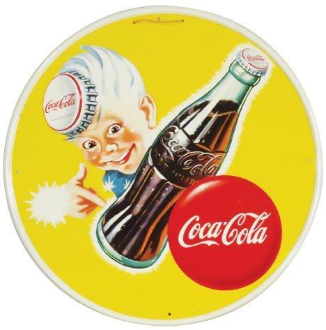"Coca Cola ""Sprite Boy"" Self Framed Tin Sign"