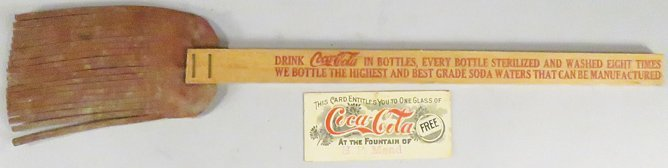 Coco Cola Coupon and Fly Swatter