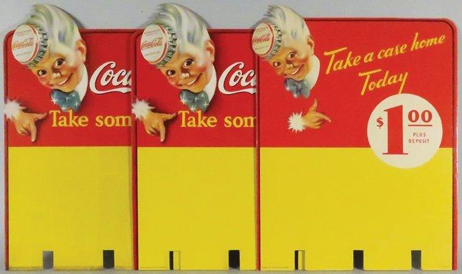"""1947 Coca Cola """"Sprite Boy"""" Case Display Signs"""