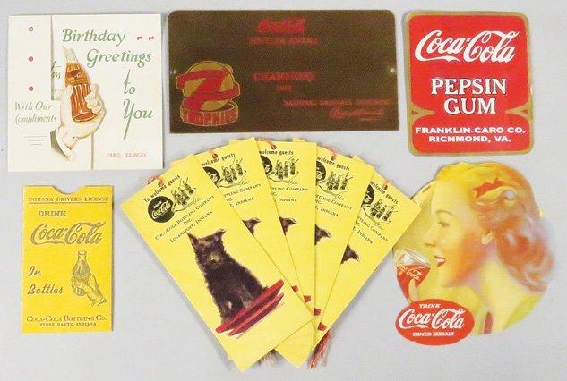 Collection of Coca Cola Ephemra