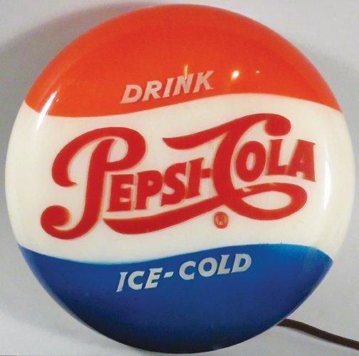 1951 Pepsi Light Up Button Sign - 2