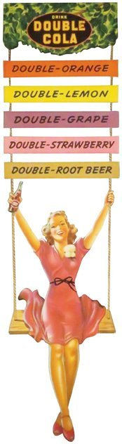 Double Cola Die Cut Carboard String Hanger