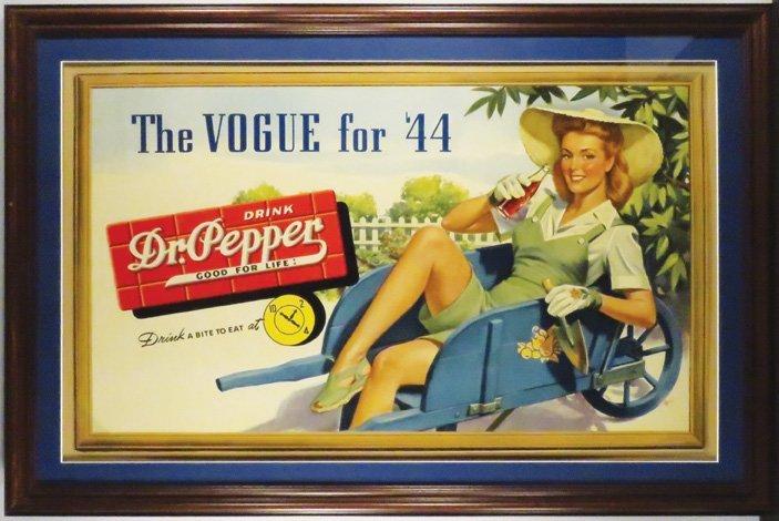Dr. Pepper Self Framed Cardboard Sign