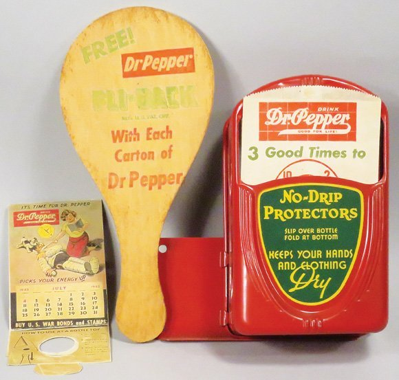 Collection of Dr. Pepper Advertising Items