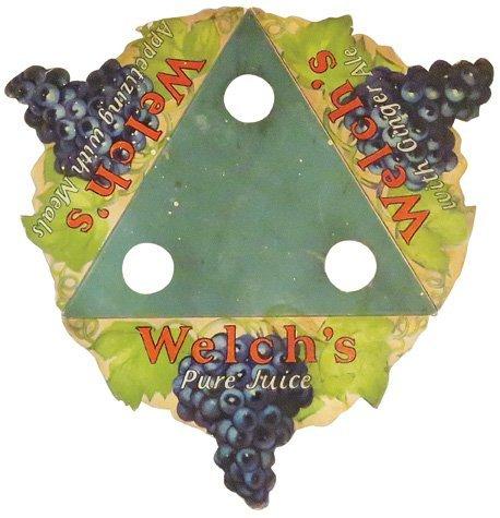 Welch's Pure Juice Die Cut Cardboard Bottle Holder