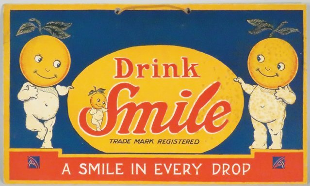 Drink Smile Cardboard String Hanging Sign