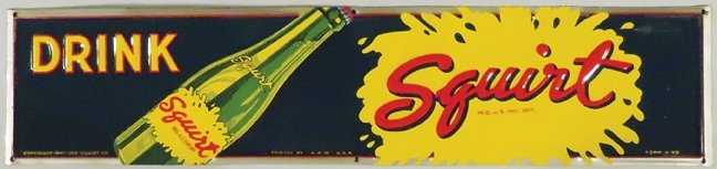 1941 Squirt Embossed Tin Sign