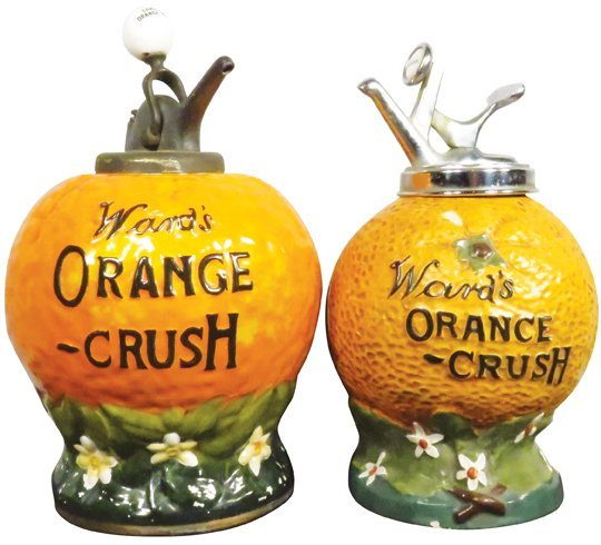 Two Wards Orange Crush Syrup Dispensers