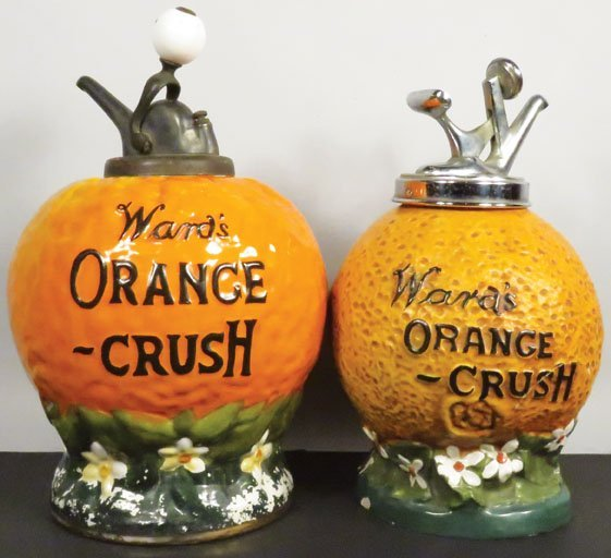 Two Wards Orange Crush Syrup Dispensers - 2