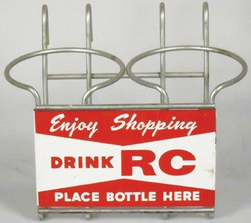 RC Cola Grocery Cart Bottle Holder