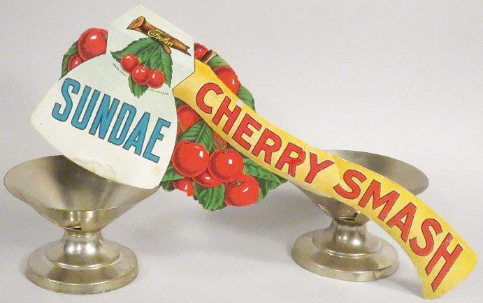 Fowler's Cherry Smash Die Cut Cardboard Sign