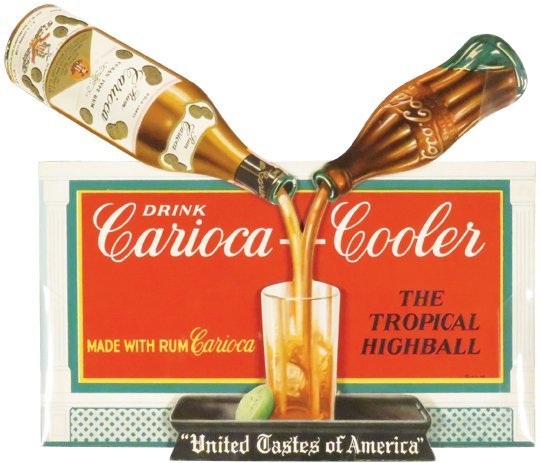 Rare Rum and Coco-Cola Die Cut Sign