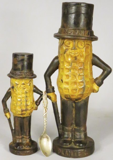 Mr. Peanut Cast Iron Banks and Advertising Spoon