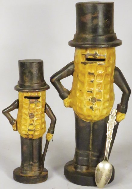 Mr. Peanut Cast Iron Banks and Advertising Spoon - 2