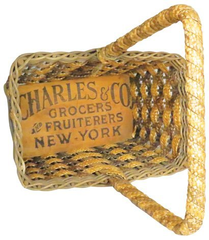 Charles & Co. Grocers Woven Shopping Basket