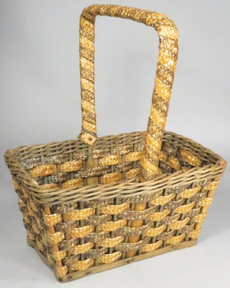 Charles & Co. Grocers Woven Shopping Basket - 2