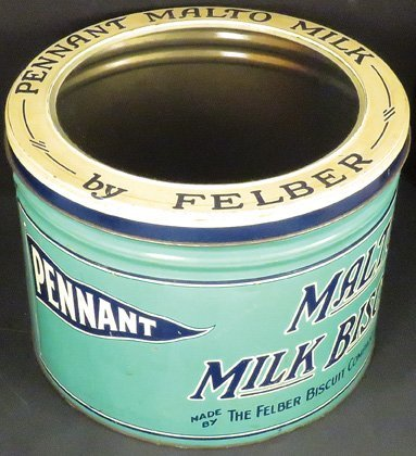 Pennant Malto Milk Biscuits Store Display Tin