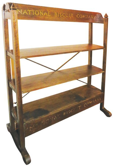 National Biscuit Co. Oak Store Display Rack
