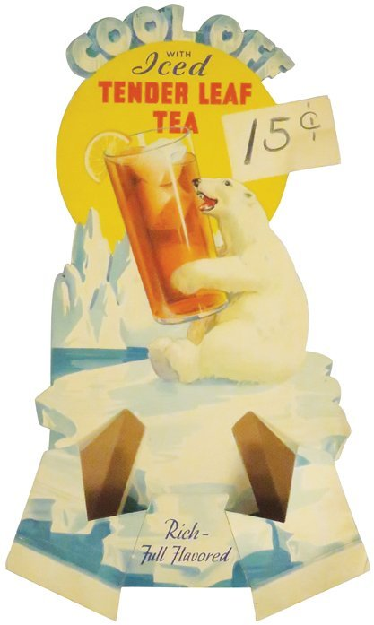 Cool Off with Ice Tea Die Cut Cardboard Sign