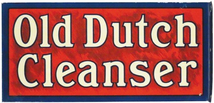 Old Dutch Cleanser Tin Flange Sign