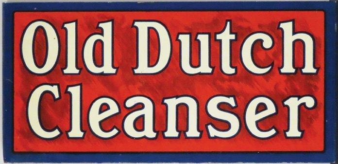 Old Dutch Cleanser Tin Flange Sign - 2