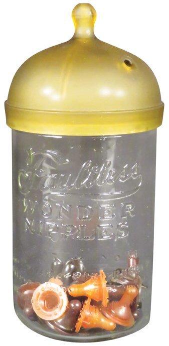 Faultless Wonder Nipples Store Display Jar