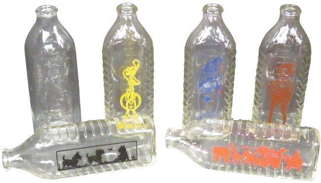 Enameled Glass Baby Bottles