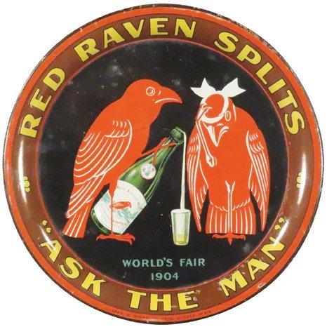 Red Raven Tin Tip Tray