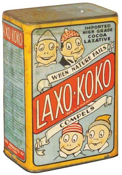Laxo-Koko Cardboard Laxative Container