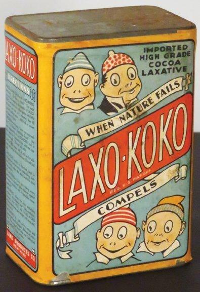 Laxo-Koko Cardboard Laxative Container - 2