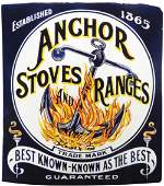 Anchor Stoves and Ranges Porcelain Sign